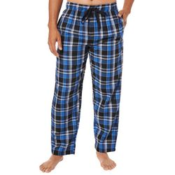 IZOD Mens Plaid Print Drawstring Pajama Pants