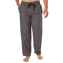 IZOD Mens Glen Plaid Print Pajama Pants