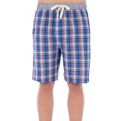 Izod Mens Plaid Broadcloth Pajama Shorts