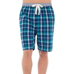 Izod Mens Plaid Pajama Shorts