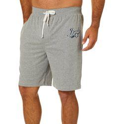 IZOD Mens Logo Heathered Pajama Shorts