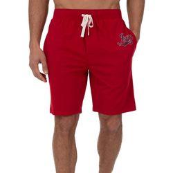 IZOD Mens Logo French Terry Pajama Shorts
