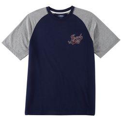 IZOD Mens Raglan Short Sleeve Pajama T-Shirt