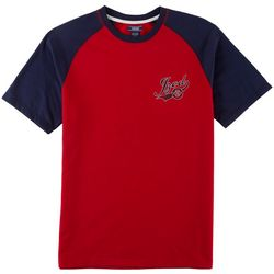 IZOD Mens Logo Raglan Pajama T-Shirt