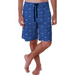 Izod Mens Shark Print Pajama Shorts
