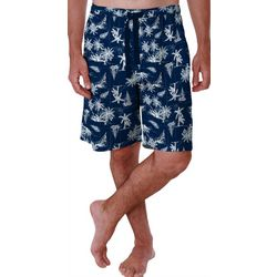 Izod Mens Boat and Palms Print Pajama Shorts