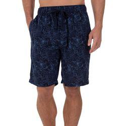 Izod Mens Floral Print Pajama Shorts