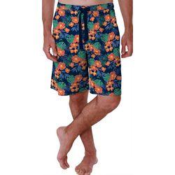 Izod Mens Hibiscus Print Pajama Shorts