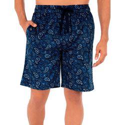 IZOD Mens Lite Touch Fleece Paisley Sleep Shorts