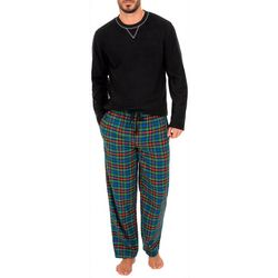 IZOD Mens 2-pc. Plaid Print Fleece Pajama Set