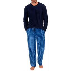 IZOD Mens 2-pc. Plaid Fleece Pajama Set