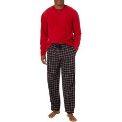 IZOD Mens 2-pc. Plaid Print Pajama Set