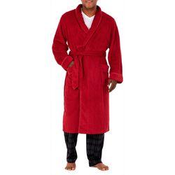 IZOD Mens Chevron Textured Robe