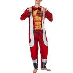 Briefly Stated Mens Santa Onesie Suit
