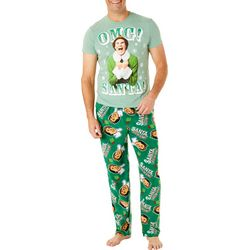 Briefly Stated Mens Elf OMG Santa Pajama Set