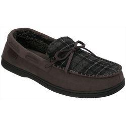 Dearfoams Mens Mircosuede Moccasin Slippers