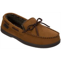 Dearfoams Mens Mircosuede Moccasin Slippers