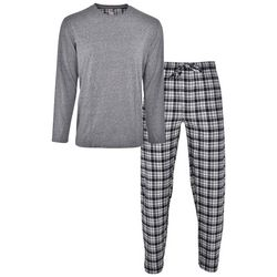 Hanes Mens Plaid Print Flannel Pajama Pants Set