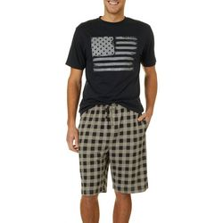 Haggar Mens 2-pc. American Flag Pajama Set