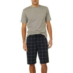 Haggar Mens 2-pc. Heathered Pajama Set