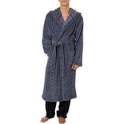 Haggar Mens Marbled Fleece Robe