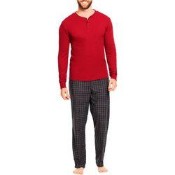 Haggar Mens 2-pc. Microsuede Plaid Pajama Set