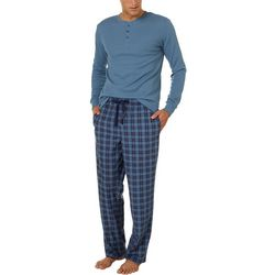 Haggar Mens 2-pc. Microsuede Pajama Set