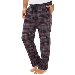 Haggar Mens Tartan Plaid Jersey Drawstring Pajama Pants