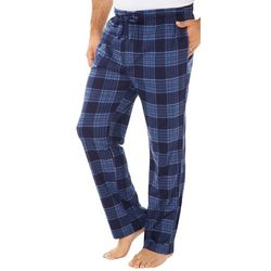 Haggar Mens Plaid Jersey Drawstring Pajama Pants