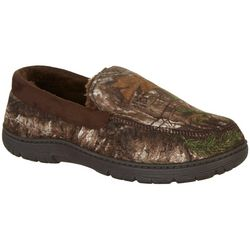 Realtree Mens Faux Suede Camo Moccasin Slippers