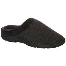 Weatherproof Mens Textured Jersey Clog Slippers