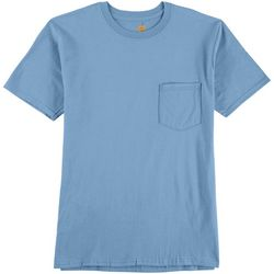 Gold Toe Mens Heathered Pocket Crew Neck T-Shirt