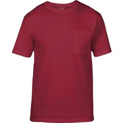 Gold Toe Mens Solid Pocket Crew Neck T-Shirt