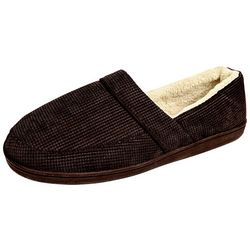 Gold Toe Mens Velour Plush Slippers