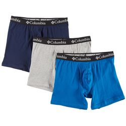 Columbia Mens 3-pk. Solid Cotton Stretch Boxer Briefs
