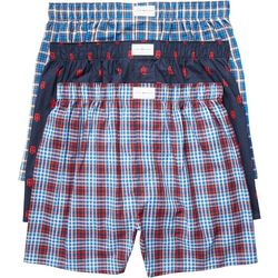 Tommy Hilfiger Woven Plaid 3-pk. Boxers