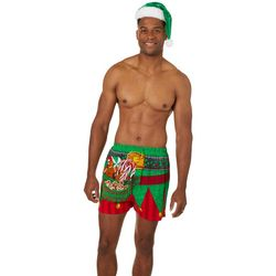 Briefly Stated Mens 2-pc. Elf Print Boxer Briefs & Hat Sat