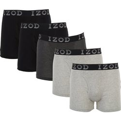 IZOD Mens 5-pk. Solid Knit Boxer Briefs
