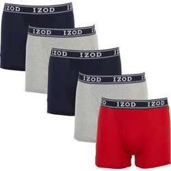 IZOD Mens 5-pk. Solid Boxer Briefs