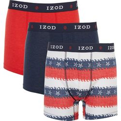 IZOD Mens 3-pk. Saltwater Starfish Stretch Boxer Briefs