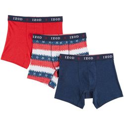 IZOD Mens 3-pk. Saltwater Stretch Boxer Briefs