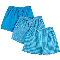 IZOD Mens 3-pk. Saltwater Flamingo Multi Boxer Shorts