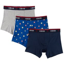 IZOD Mens 3-pk. Saltwater Beachball Stretch Boxer Briefs
