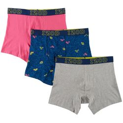 IZOD Mens 3-pk. Saltwater Flamingo Stretch Boxer Briefs