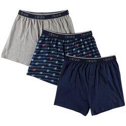 IZOD Mens 3-pk. Life Preserver Knit Boxers
