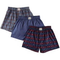 Lucky Brand Mens 3-pk. Plaid Print Boxer Shorts