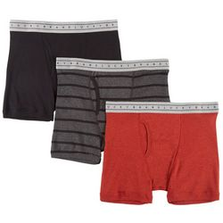 Lucky Brand Mens 3-pk. Heathered Boxer Briefs