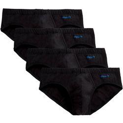 2xist Mens 4-pk. Stretch Solid Bikini Briefs