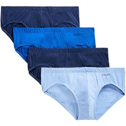 2xist Mens 4-pk. Essential Solid Bikini Briefs