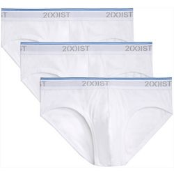 2xist Mens 3-pk. Low Rise No-Show Briefs